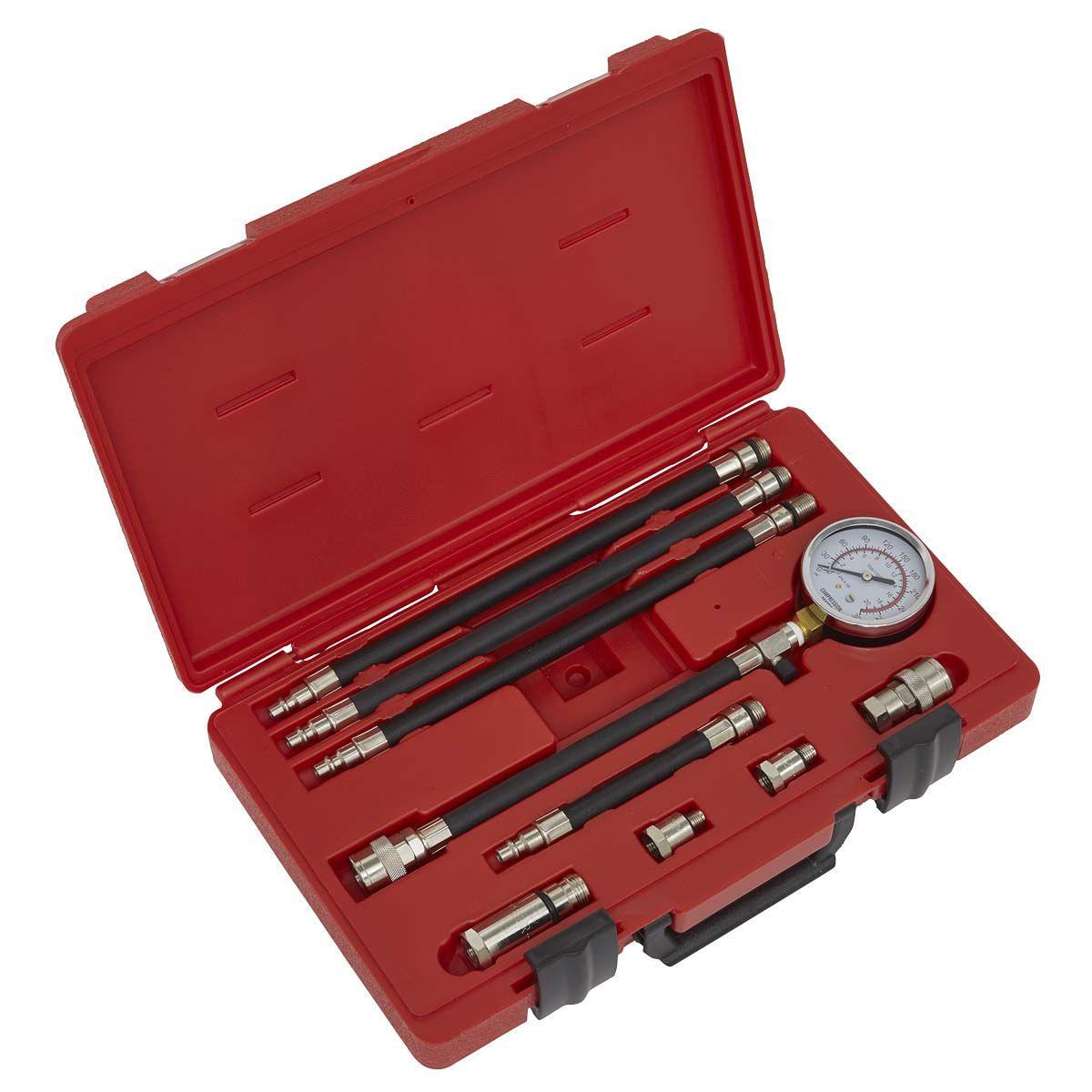 Sealey Petrol Compression Test Kit 10pc