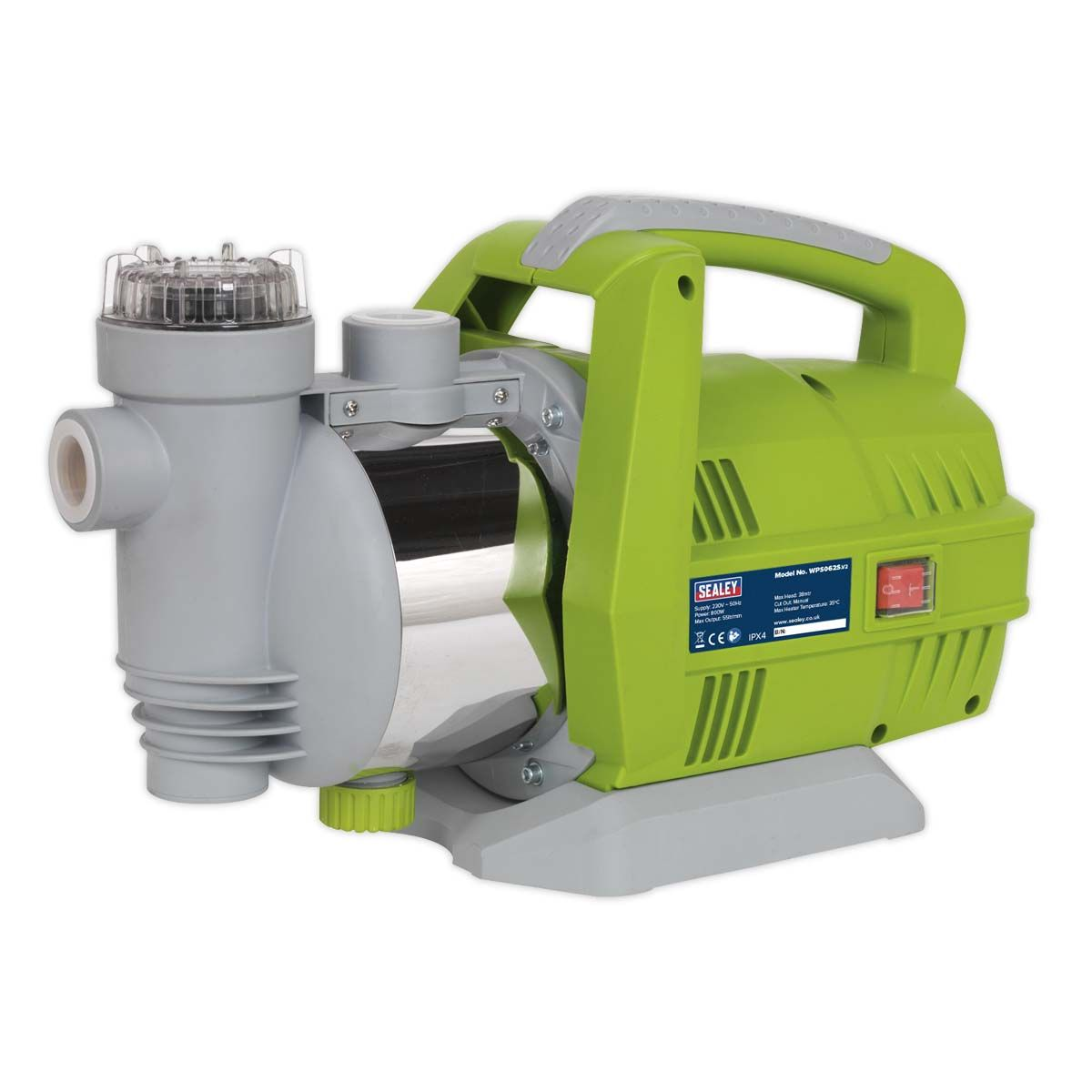 Sealey Surface Mounting Water Pump Stainless Steel 55L/min 230V