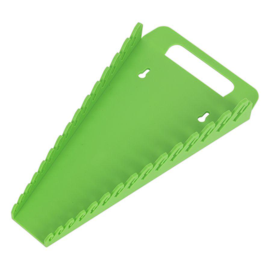 Sealey Spanner Rack Capacity 15 Spanners Hi-Vis Green