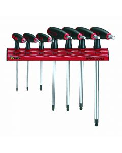 Teng Tools 7 Piece Metric T handle Hex Key Rack
