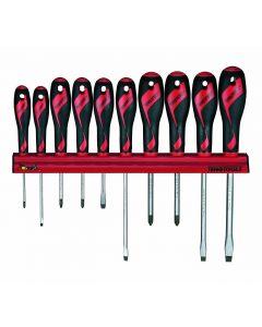 Teng Tools 10 Piece Mixed Drive Screwdriver Rack