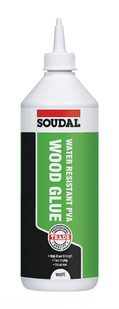 Soudal Water Resistant D3 Wood Glue White 1ltr
