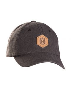 Husqvarna Xplorer Leather Patch Cap Granite Grey