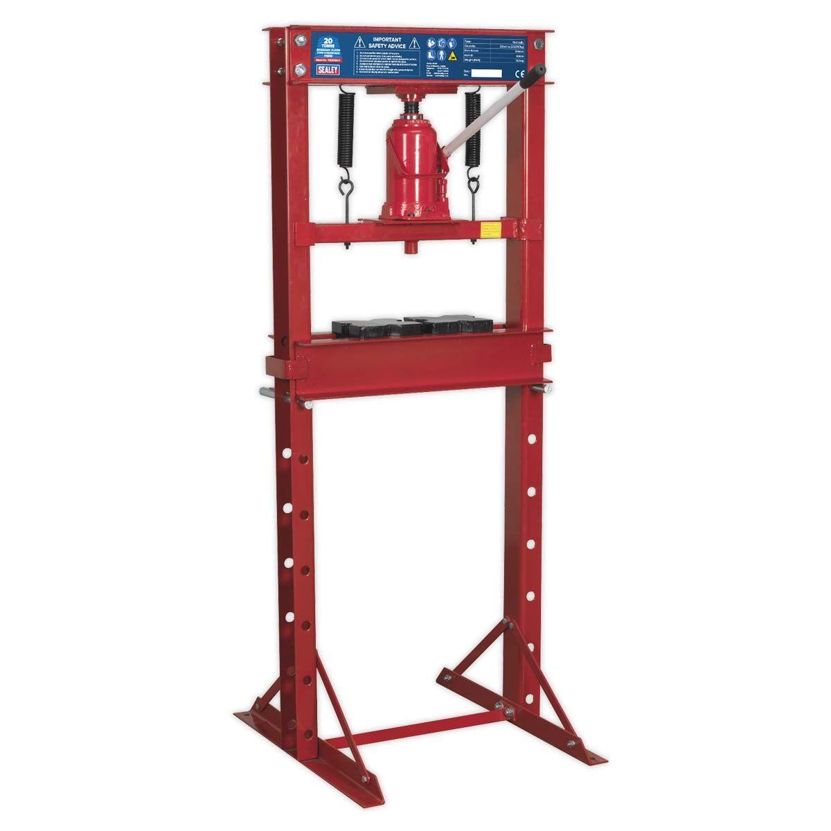 Sealey Hydraulic Press 20tonne Economy Floor Type