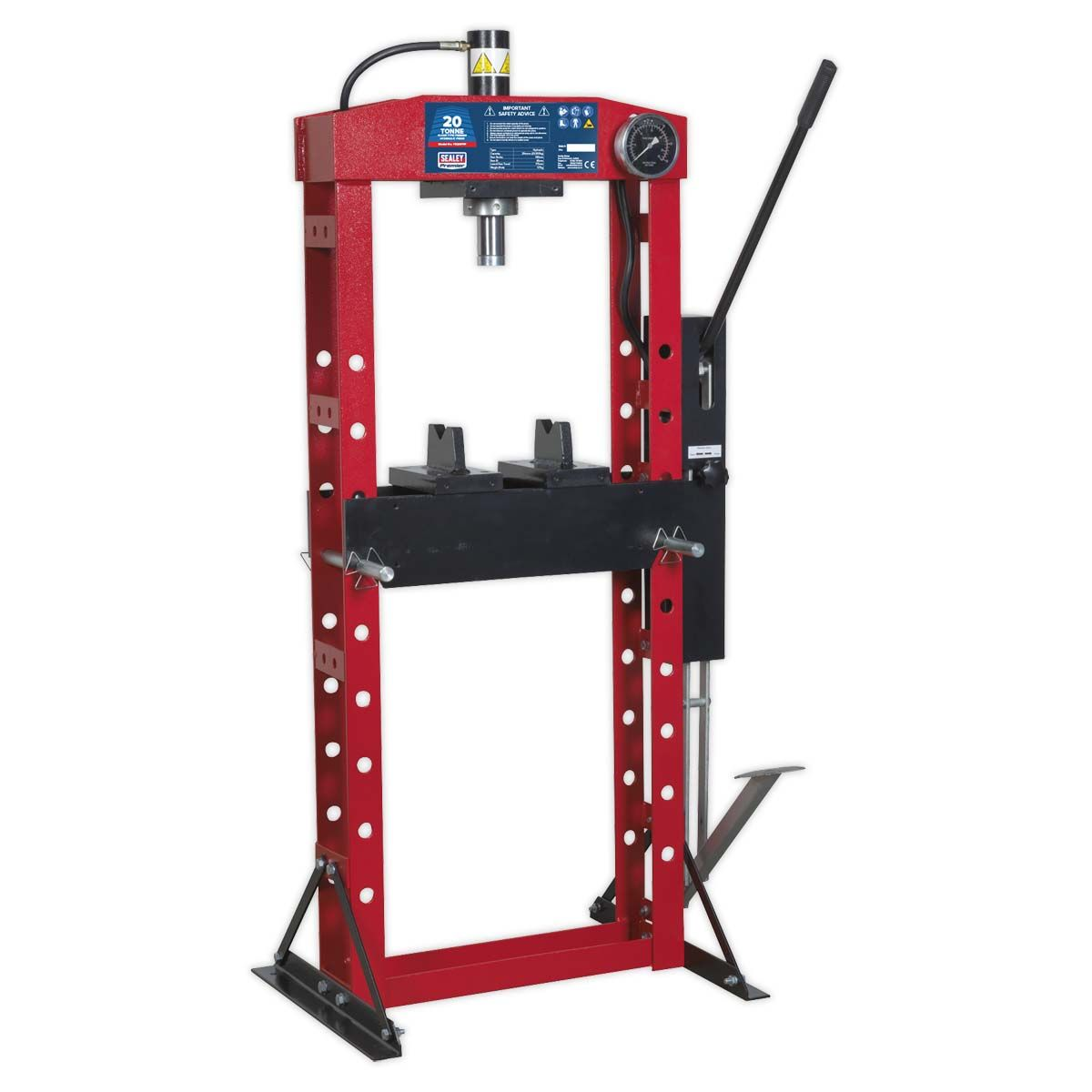 Sealey Hydraulic Press Premier 20tonne Floor Type with Foot Pedal
