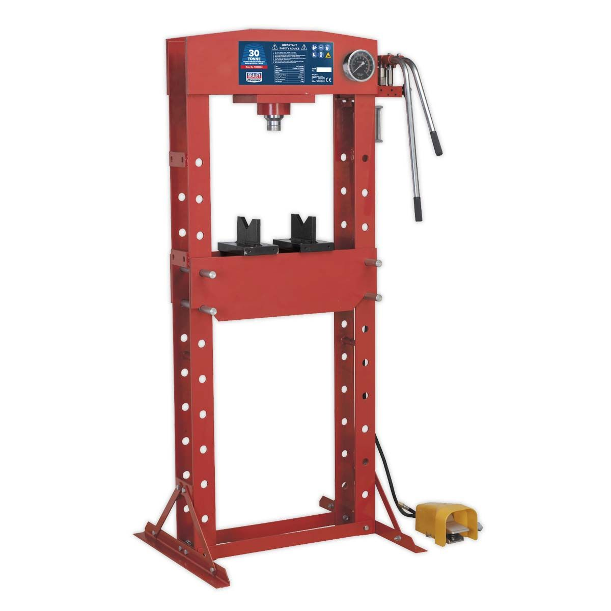 Sealey Air/Hydraulic Press 30tonne Floor Type with Foot Pedal