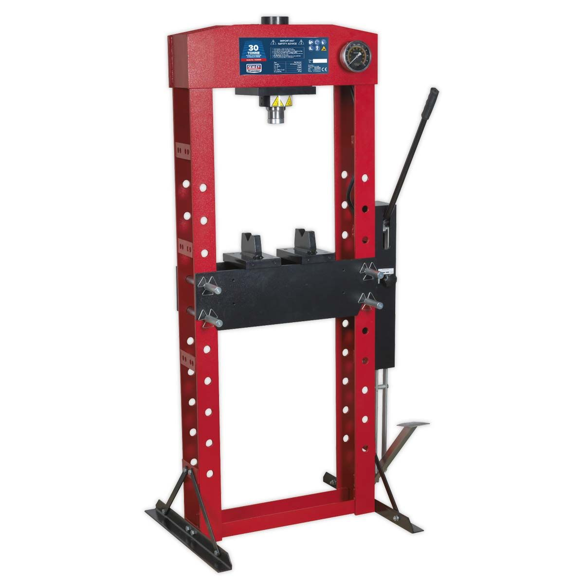 Sealey Hydraulic Press Premier 30tonne Floor Type with Foot Pedal