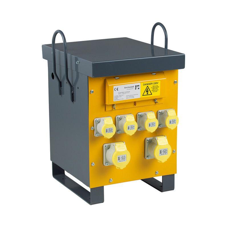 Defender Site Transformer 10 KVA 230V To 110V 4x 16A 2x 32A Outlet