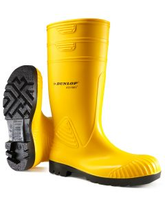 Dunlop Acifort Heavy Duty Full Safety Wellington Boots Yellow