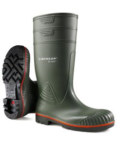 Dunlop Acifort Heavy Duty Full Safety Wellington Boots Green