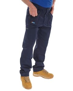 Click Workwear Action Trousers Navy