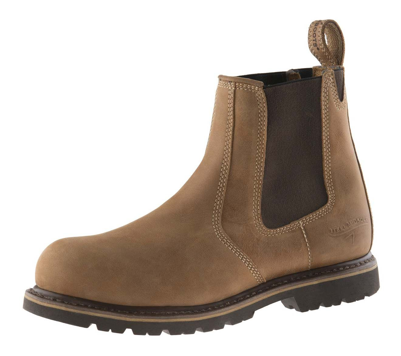 Buckler B1151SM Buckflex Goodyear Welted Full Safety Dealer Boots Brown