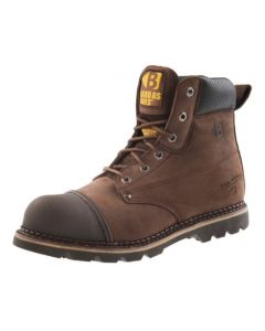Buckler B301SM Goodyear Welted Full Safety Lace Boots Brown