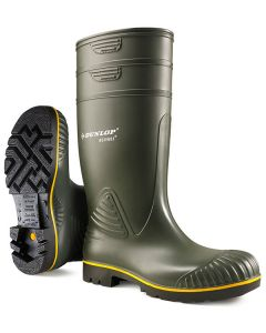 Dunlop Acifort Heavy Duty Non-Safety Wellington Boots Green