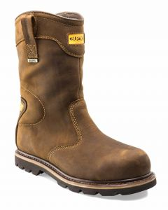 Buckler B701SMWP Goodyear Welted Full Safety Rigger Boots Dark Brown