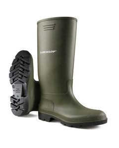 Dunlop Pricemastor Non-Safety Wellington Boots Green