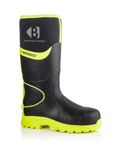 Buckler BBZ8000 Buckbootz Hi-Viz Full Safety Wellies Neoprene Lined Black/Yellow S5 HRO CI HI AN SRC