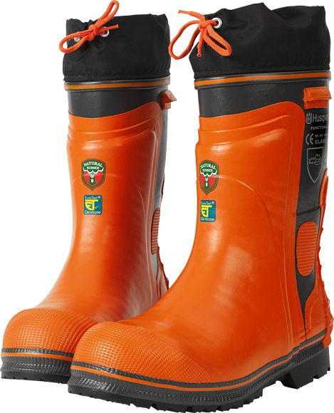 Husqvarna Chain Saw Protective Rubber Wellington Boots - Functional 24m/s