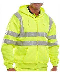 B-Seen Hi-Vis Hooded Sweatshirt Saturn Yellow