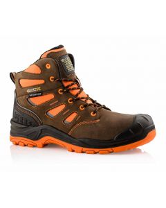 Buckler Buckz Viz BVIZ2 Hi-Viz Orange Full Safety Boots Brown