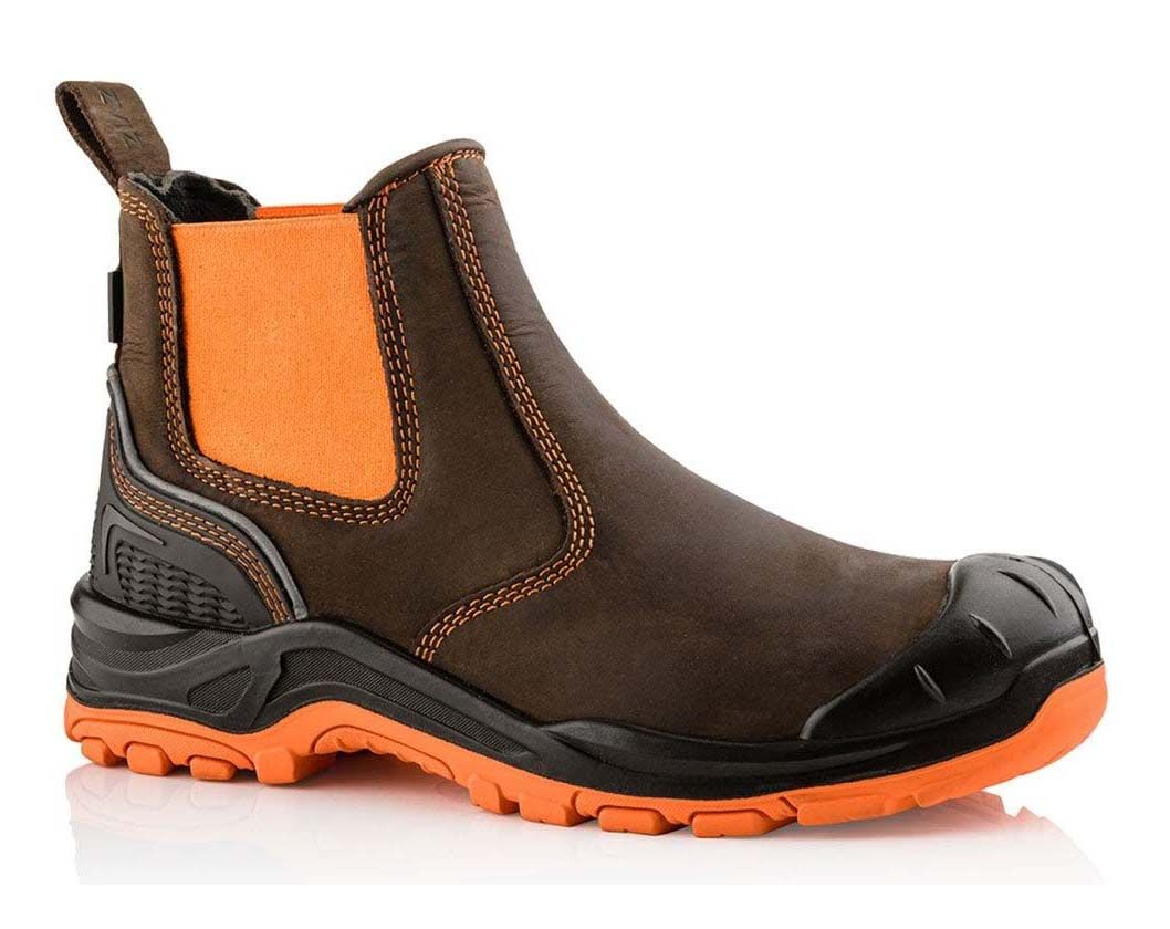 Buckler Buckz Viz BVIZ3 Hi-Viz Orange Full Safety Dealer Boots Brown