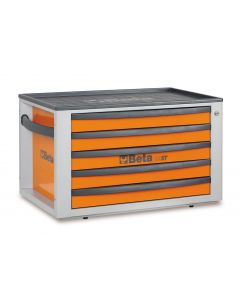 Beta Tools C23ST Portable Tool Chest Top Box With 5 Drawers