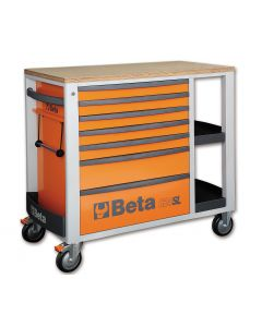 Beta Tools C24SL Mobile Roller Cabinet Workstation With 7 Drawers