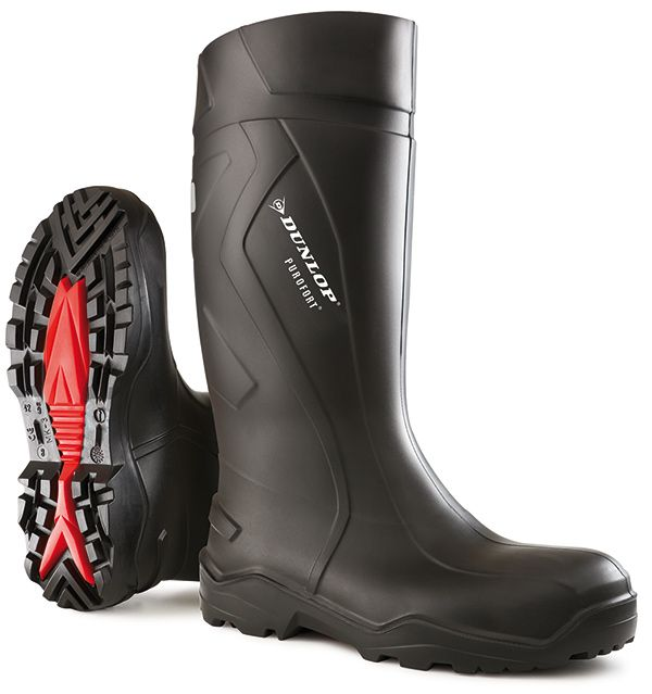 Dunlop Purofort+ Full Safety Wellington Boots Black