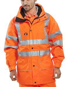 B-Seen Hi-Vis Railway Carnoustie Jacket Orange