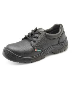 Click Dual Density Economy S1 Safety Leather Shoes Black