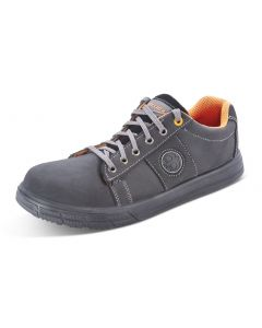 Click Dual Density S1P Full Safety Leather Sneaker Trainers Black