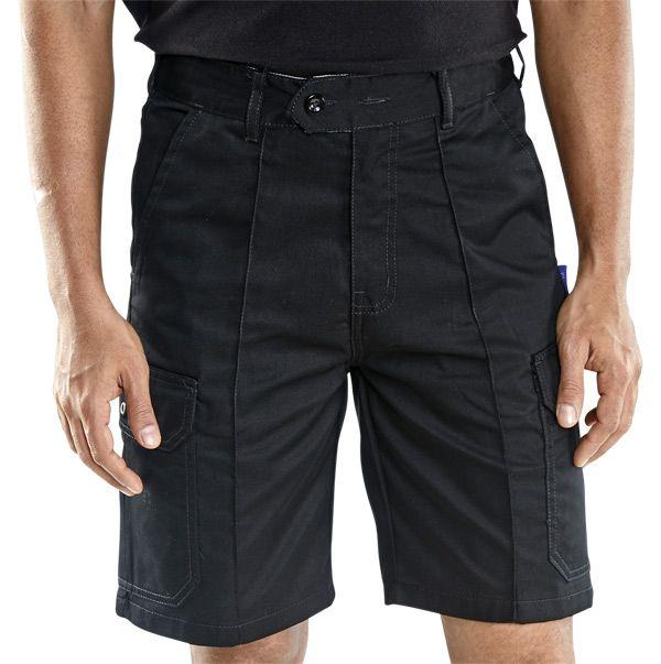 Super Click Workwear Cargo Pocket Shorts Black