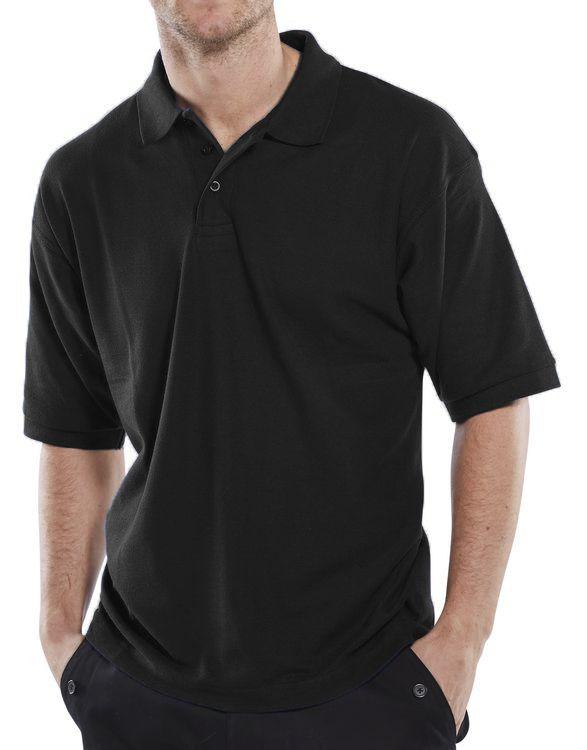 Click Workwear Polo Shirt Black