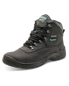 Click Traders S3 Full Safety Thinsulate Steel Toe Cap Leather Boots Black