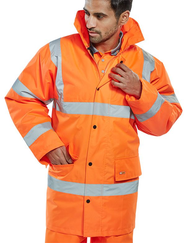 B-Seen Hi-Vis Constructor Jacket Orange