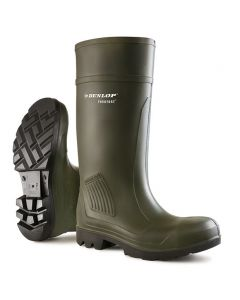 Dunlop Purofort Full Safety Professional Wellington Boots Green