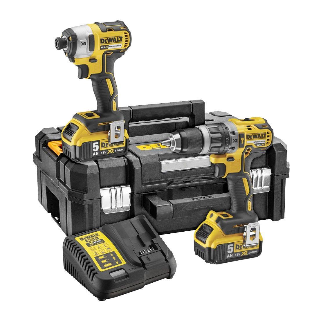 DeWalt DCK266P2T Brushless 18v Combi Drill & Impact Driver Kit 2x 5Ah Batteries