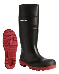Dunlop Acifort Warwick Full Safety Wellington Boots Black