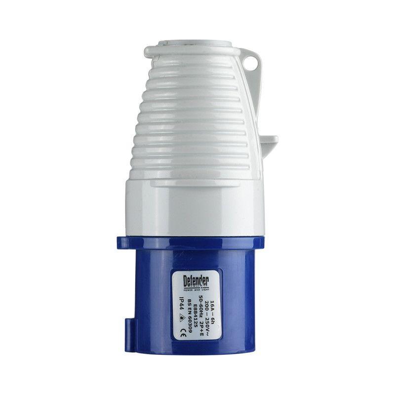 Defender 16A Plug Blue 240V