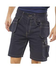 Click Workwear Grantham Multi Pocket Shorts Navy