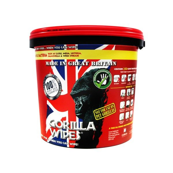 Gorilla Wipes Bucket of 250