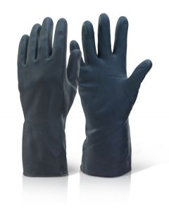 Cick 2000 Household Heavyweight Rubber Gloves Black