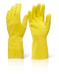 Click Household Heavy Weight Gloves Yellow