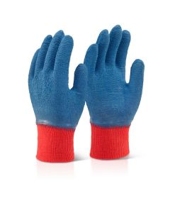 Click 2000 Latex Fully Coated Gripper Gloves Blue