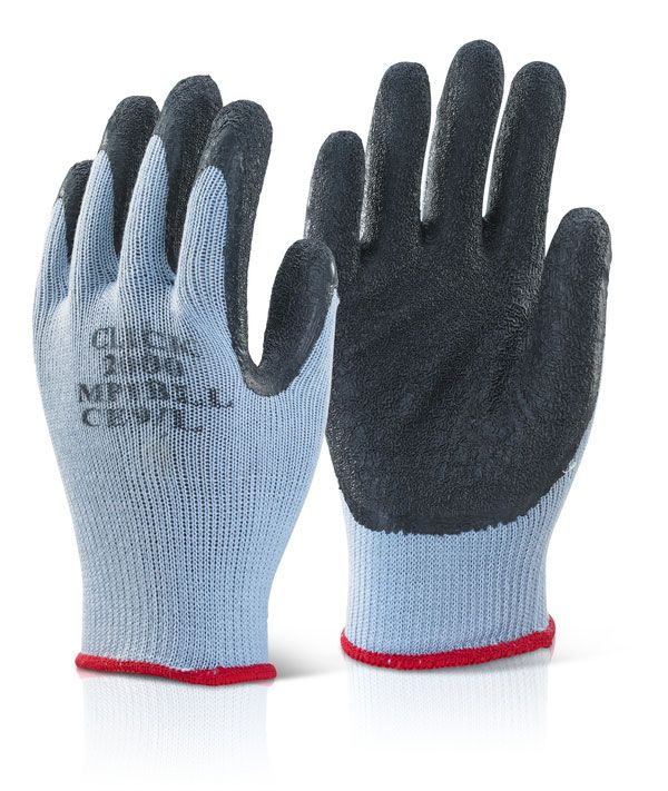Click Multi Purpose Latex Palm Coated Gloves Black
