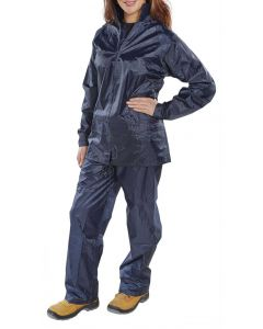 B-Dri Waterproof Overall Suit Trousers & Jacket Navy