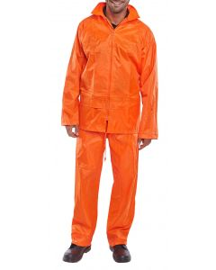 B-Dri Waterproof Overall Suit Trousers & Jacket Orange