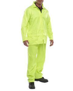 B-Dri Waterproof Overall Suit Trousers & Jacket Yellow