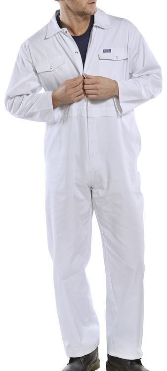 Click Workwear Boilersuit Overalls White