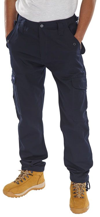 Click Workwear Combat Trousers Navy